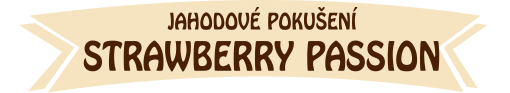 Strawberry passion - jahodové pokušení - label